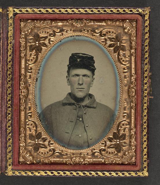 [Unidentified soldier in Union uniform with forage cap]