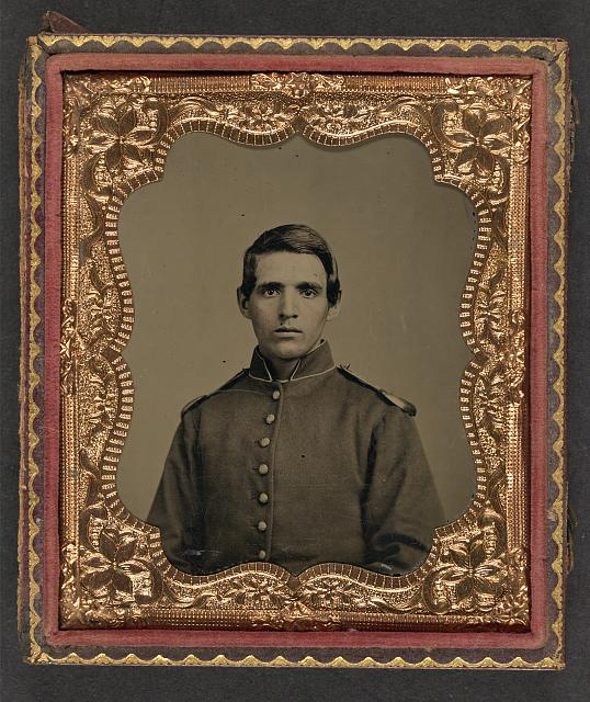 [Unidentified soldier in Union uniform with shoulder scales]