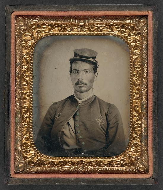 [Unidentified African American soldier in Union Zouave uniform]