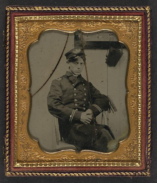 [Unidentified sailor in Union naval officer's uniform]