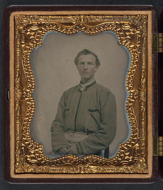 [Lieutenant Horatio J. David of Company B, 16th Georgia Infantry Regiment]