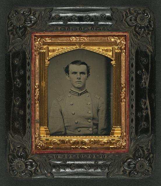 [Unidentified soldier in Confederate first lieutentant frock coat]