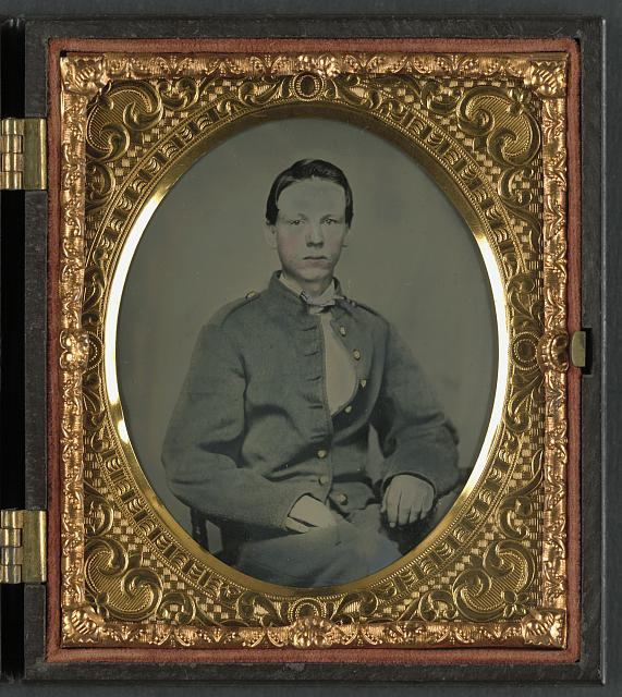 "[Private Alexander T. Harris of Richmond ""Parker"" Virginia Light Artillery Battery in Richmond Depot jacket]"