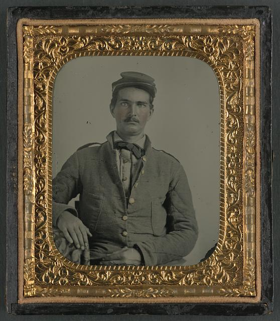 [Corporal L. Purnell of Co. I, 11th Mississippi Infantry Regiment, in uniform]