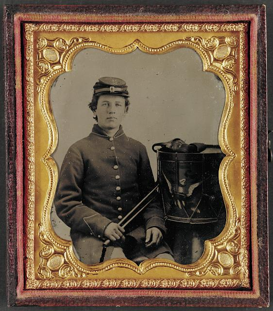 [Unidentified young drummer boy in Union uniform]