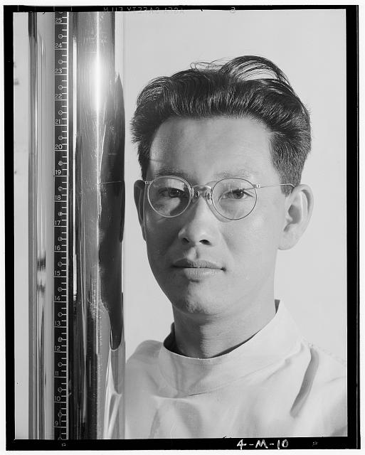 Michael Yonemetsu, [i.e., Yonemitsu] x-ray specialist, Manzanar Relocation Center, California