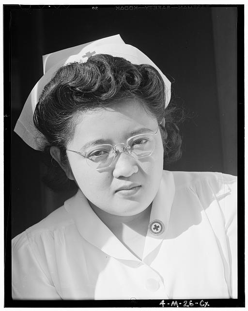 Catherine Natsuko Yamaguchi, nurse, 3 of 4, Manzanar Relocation Center, California