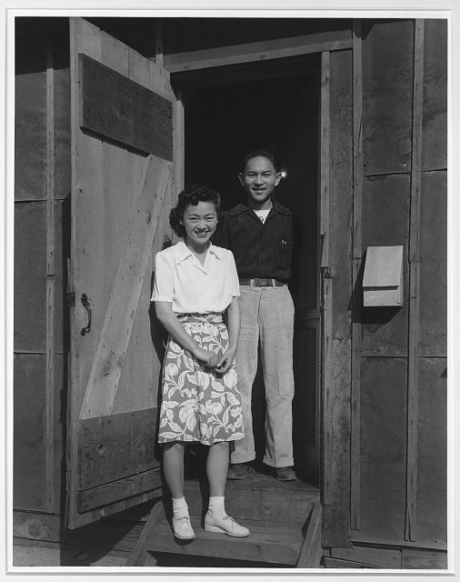 Mr. & Mrs. Dennis Shimizu, Manzanar Relocation Center, California