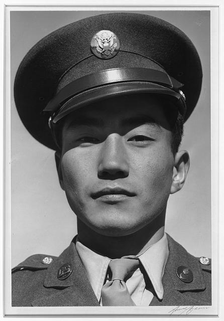 Corporal Jimmie Shohara, Manzanar Relocation Center, Calif.