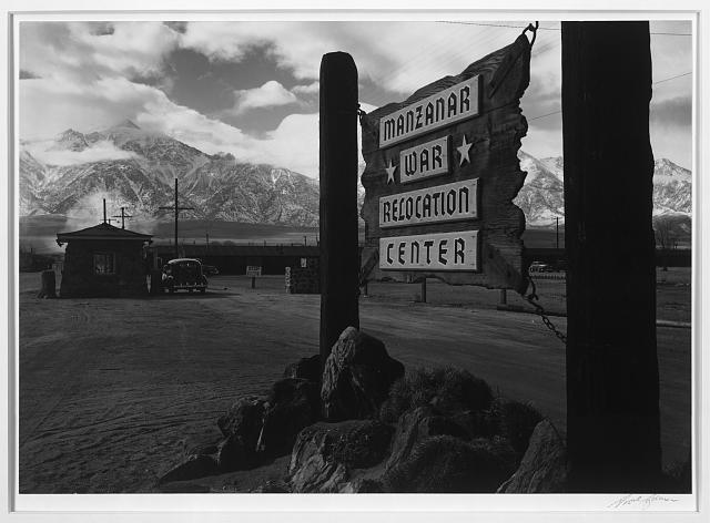 Entrance to Manzanar, Manzanar Relocation Center