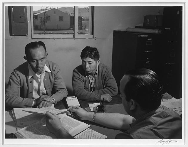 Bunkichi Hayashi, project attorney, Manzanar Relocation Center