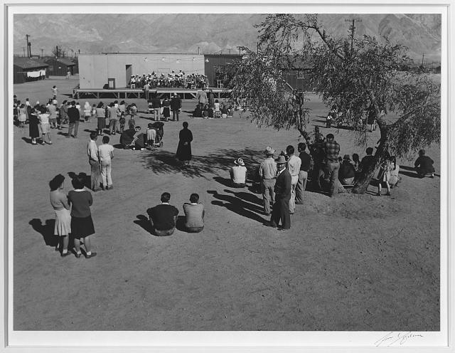 Band concert,  Manzanar Relocation Center