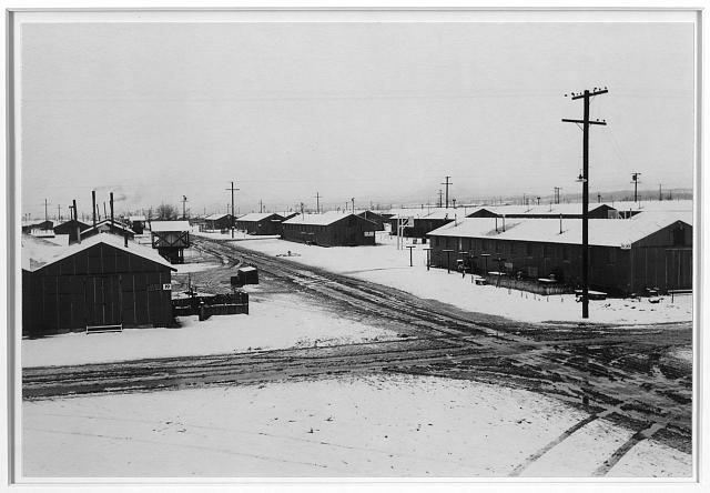 Winter storm, Manzanar Relocation Center, California