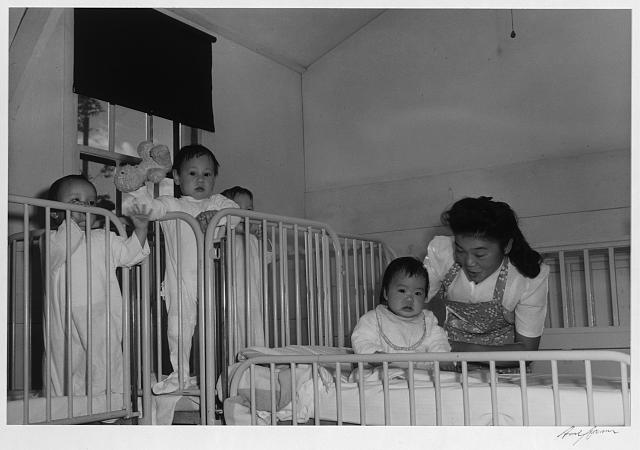 Orphanage nurse, Manzanar Relocation Center, California