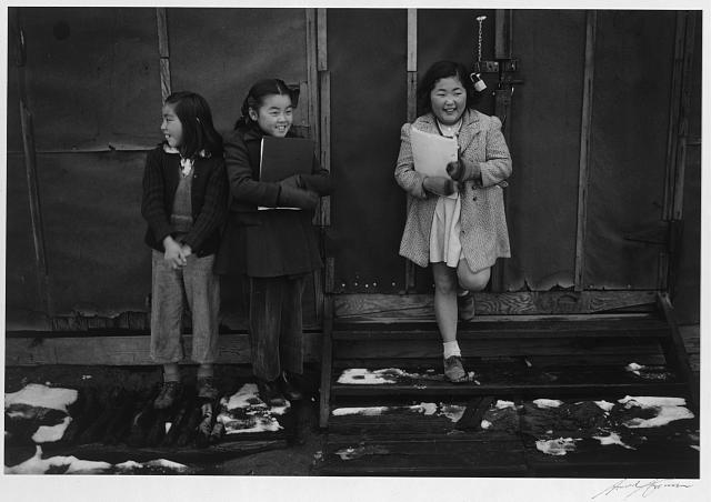 School children, Manzanar Relocation Center, California