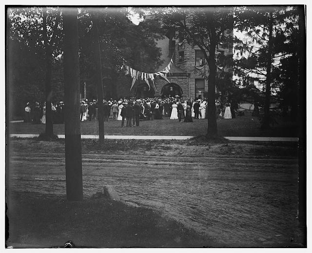 [Oberlin College reception, group photograph, Oberlin, Ohio]