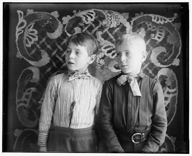[Herbert Wright, age eight, son of Reuchlin Wright, and Milton Wright, age nine, son of Lorin Wright]