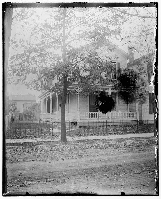 [Front view of the Wright home with trees in leaf, 7 Hawthorn Street, Dayton, Ohio]