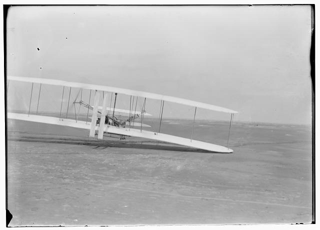 [Orville piloting the third flight of December 17, 1903; Kitty Hawk, North Carolina]