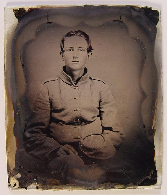 [Unidentified young soldier Confederate uniform with kepi]