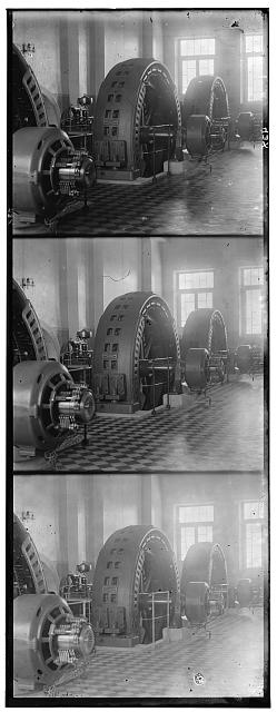 [Alternators made in Budapest, Hungary, in the power generating hall of a hydroelectric station in Iolotan on the Murghab River]