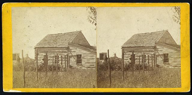 House & well where Jim Lane shot Capt. Jenkins, Lawrence, Kansas, 323 miles west of St. Louis, Mo.