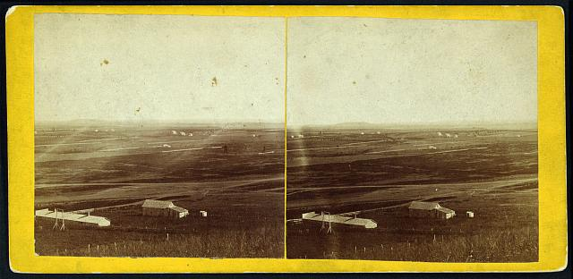 Waukerusa Valley (Blue Mount in distance) from fort, Lawrence, Kansas, 323 miles west of St. Louis, Mo.