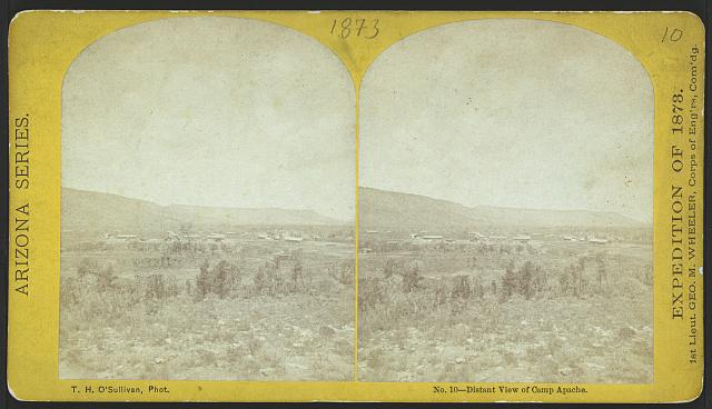 Distant view of Camp Apache.