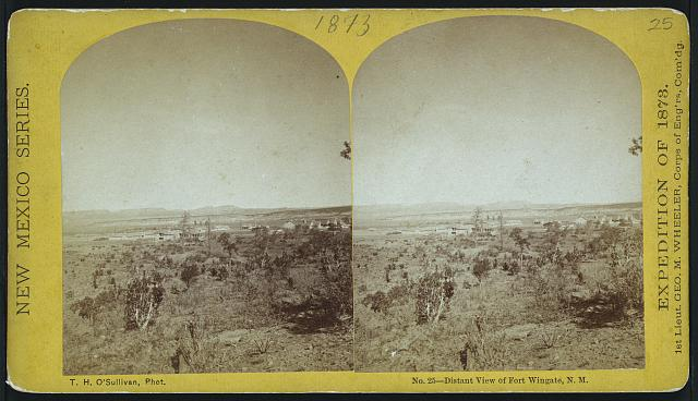 Distant view of Fort Wingate, N.M.