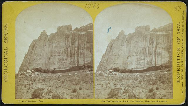 Inscription Rock, New Mexico, view from the north.