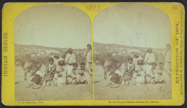 Group of Navajoe Indians, New Mexico.