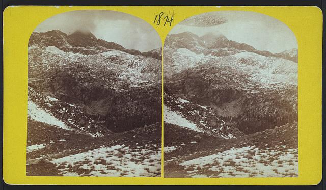 Sierra Blanca, Col., 1874. First ascended by Gilbert Thompson, 7 day carpenter, who remained on top over-night.