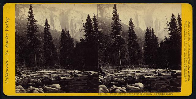 On the Merced River, near El Capitan, Yo Semite Valley