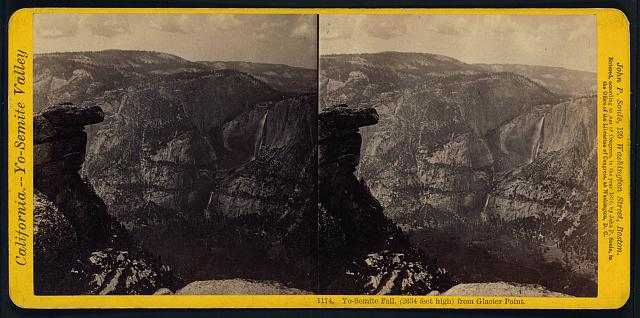 Yo-Semite Fall, (2634 feet high) from Glacier Point