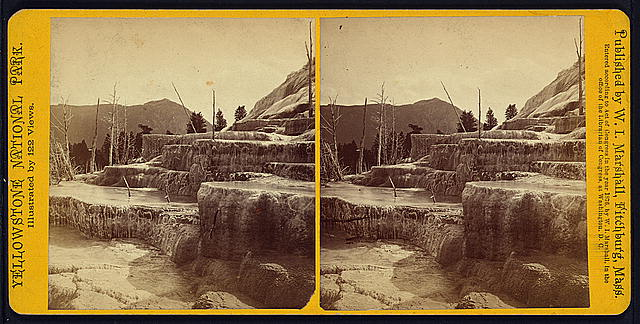 Mammoth Hot Springs Series. Basket Basins
