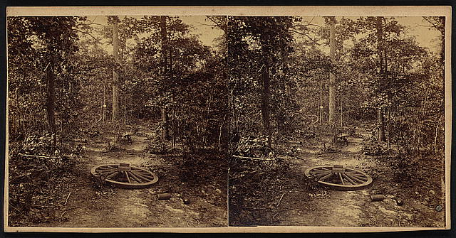 Gen. McPherson was killed at the small tree in the middle ground, showing a white square, July 22, 1864, Atlanta, Ga, Nov. 1864