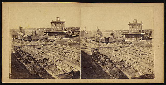 Buildings of the Western &amp; Atlantic (state) R.R. at Atlanta, Ga., Nov. 1864. These were all destroyed a few days afterwards