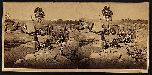 View from rebel fort on Peach Tree Street, looking north, Atlanta, Ga., Nov. 1864