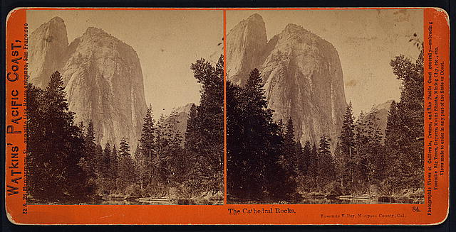 The Cathedral Rocks, Yosemite Valley, Mariposa County, Cal.