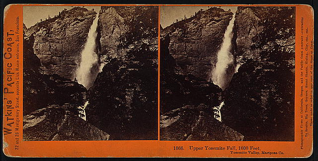Upper Yosemite Fall, 1600 feet, Yosemite Valley, Mariposa Co.