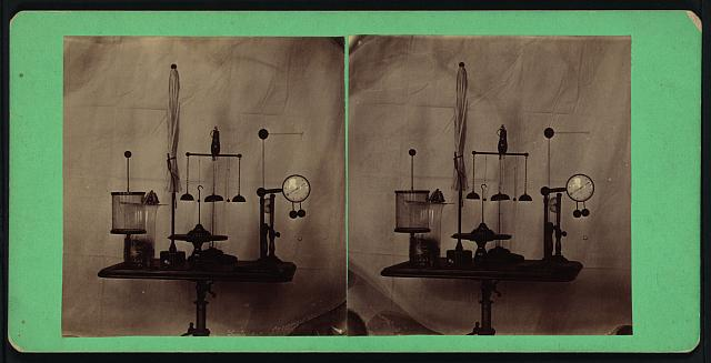 [Display of antique electrical apparatus, Dickinson College]