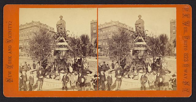 Lincoln Monument, Union Square, Decoration Day, 1876