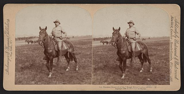 "Col. Theodore Roosevelt of the ""Rough Riders"" - after his return from Cuba"