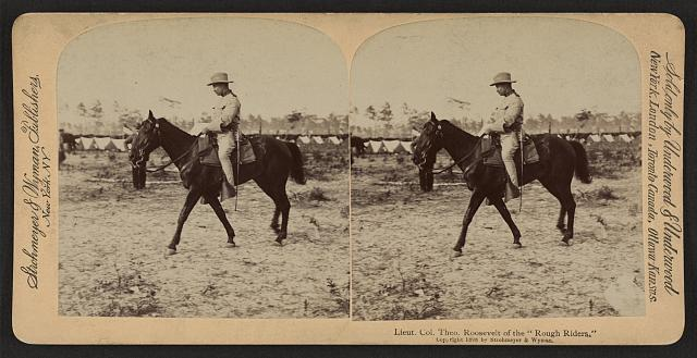 "Lieut. Col. Theo. Roosevelt of the ""Rough Riders"""