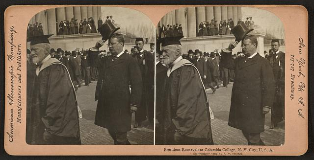 President Roosevelt at Columbia College, N.Y. City, U.S.A.
