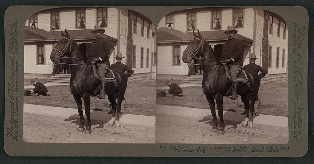 President Roosevelt at Fort Yellowstone, ready for his trip through Yellowstone Park