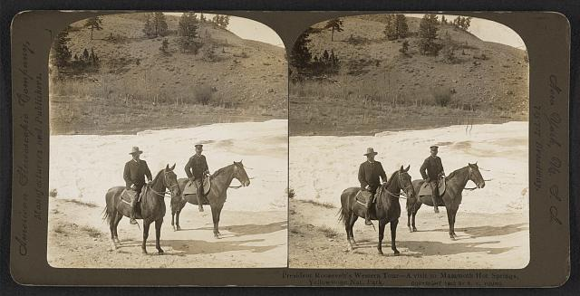 President Roosevelt's western tour - a visit to Mammoth Hot Springs, Yellowstone Nat. Park