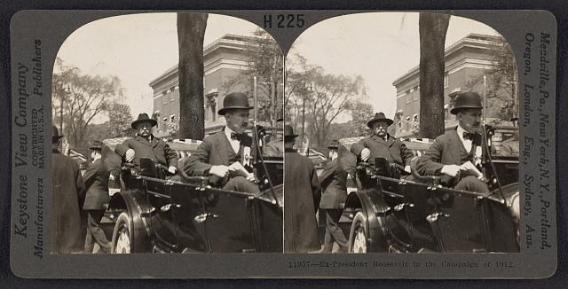 Ex-President Roosevelt in the campaign of 1912