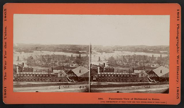 Panoramic view of Richmond in ruins