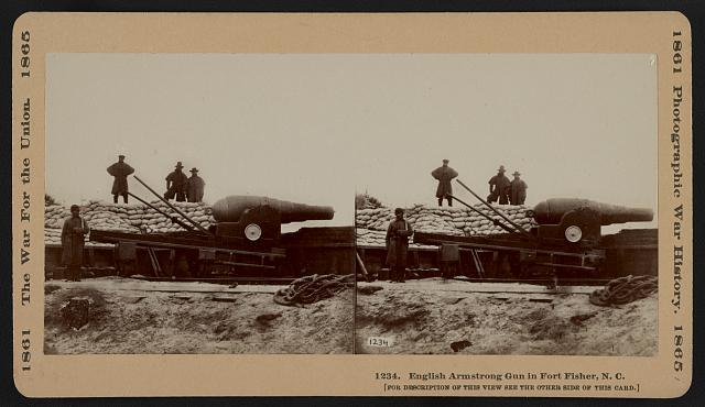 English Armstrong gun in Fort Fisher, N.C.